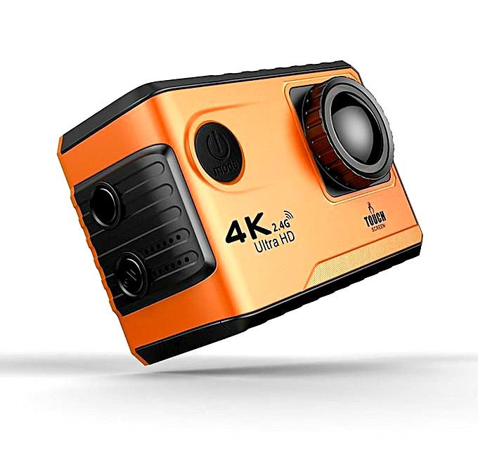 Action Camera F100B WiFi 4K сенсорный экран, экшн камера, камера 4К, качественная съемка в 4к