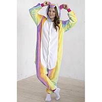 Детская пижама кигуруми радужный единорог tkrd0061
