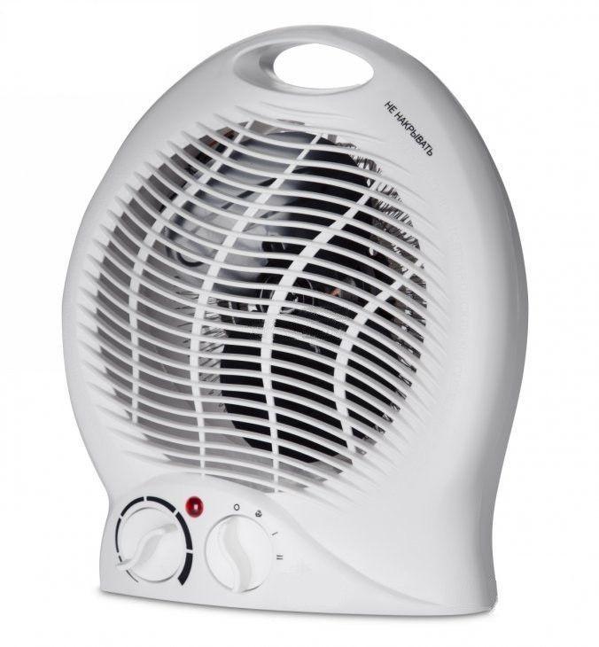 Тепловентилятор А-Плюс Heater-2124, мощность 2000 Ват, площадь 22 кв/м, дуйка, воздушный обогреватель