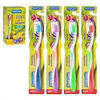 """Зубна щітка """"Fresh care"""" MH-1040 різні кольори, пластик, 12 штук, зубні щітки, догляд за порожниною рота, щітки"""