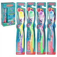 """Зубна щітка """"Fresh care"""" MH-1043 різні кольори, пластик, 12 штук, зубні щітки, догляд за порожниною рота, щітки"""