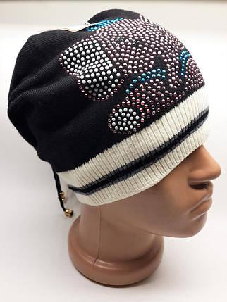 Детская и подростковая шапка Слоник Urchin черная, фото 2