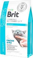 Brit VD Obesity Cat для снижения избыточного веса и поддержания нормальной массы тела у взрослых кошек 2кг