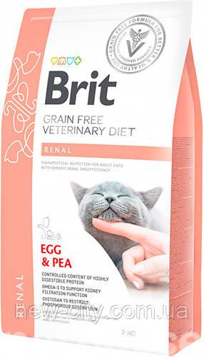 Brit VD Renal Cat для кошек с нарушенной функцией почек и хронической почечной недостаточностью 2кг