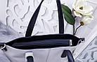 Женская сумка серого цвета, эко-кожа, фото 3