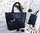 Женская сумка серого цвета, эко-кожа, фото 6