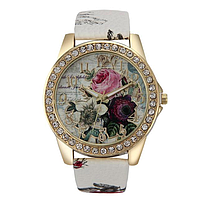 Женские наручные часы с цветочным принтом код 506