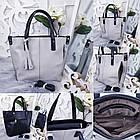 Женская сумка серого цвета, эко-кожа, фото 7