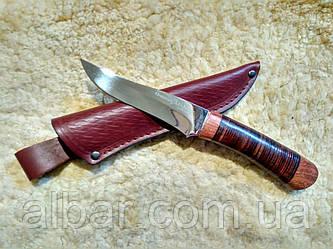 Нож охотничий  нескладной (рукоять наборная кожа) 2256 LP