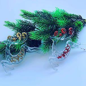 Елочное украшение.Олени (лёд 2 шт), фото 2