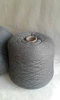 Итальянская Пряжа Zegna Baruffa Lane Borgosesia art Super Melange. Меринос 100%,  2/3000 м /100 гр. Серый.