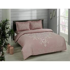 Постельное белье Tac сатин - Anissa gulkurusu v05 розовый евро