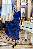 ЖІноче  плаття з сіточкою внизу ,2 кольори. Р-ри 42-48, фото 1