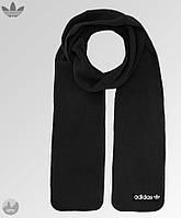 Мужской зимний шарф из микрофлиса, чоловічий шарф, бафф Adidas (черный лого), Реплика