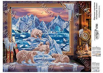 """Схема для частичной зашивки бисером - Ожившие картины """"Северный полюс"""""""