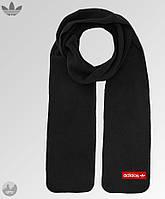 Мужской зимний шарф из микрофлиса, чоловічий шарф, бафф Adidas, Адидас (черный), Реплика