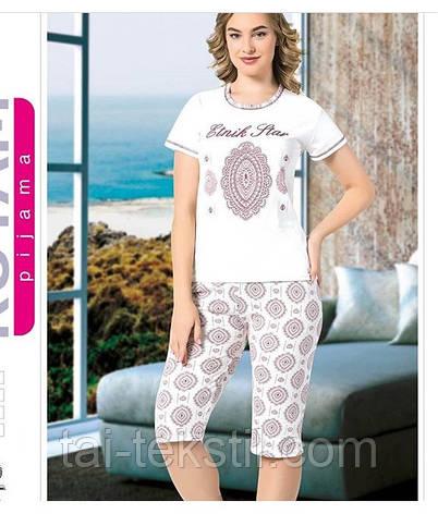 Пижама женская футболка с капри хлопок MISS LALE № 10011, фото 2
