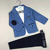 Стильний костюм трійка 2-5 років, фото 1