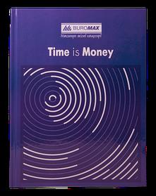 """/Книга обліку """"TIME IS MONEY"""" 96 арк/кліт.оф.(тв. лам. обл), А4, синій"""