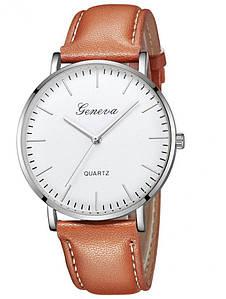 Мужские часы Geneva коричневые (1066948567)