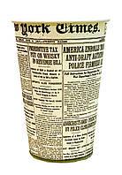 Стакан бумажный 340мл (рисунок газета)