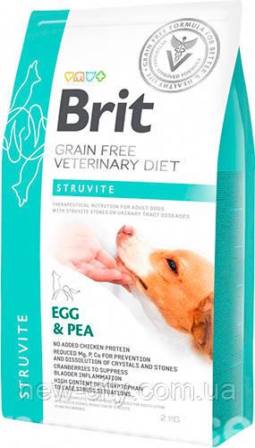 Brit VD Struvite Dog для лечения заболеваний нижних мочевых путей у собак 2кг