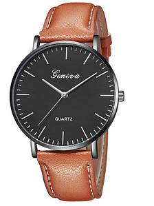Мужские часы Geneva коричневые (1066953243)
