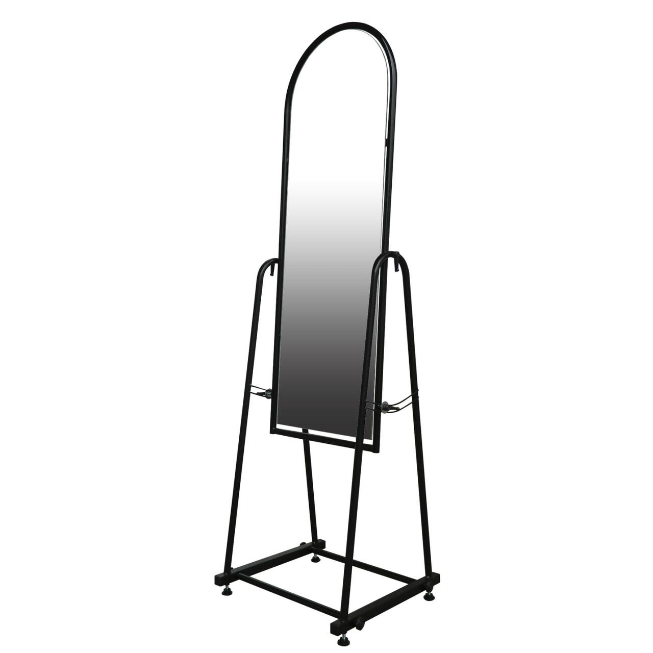 Торговое напольное зеркало для одежды чёрного цвета