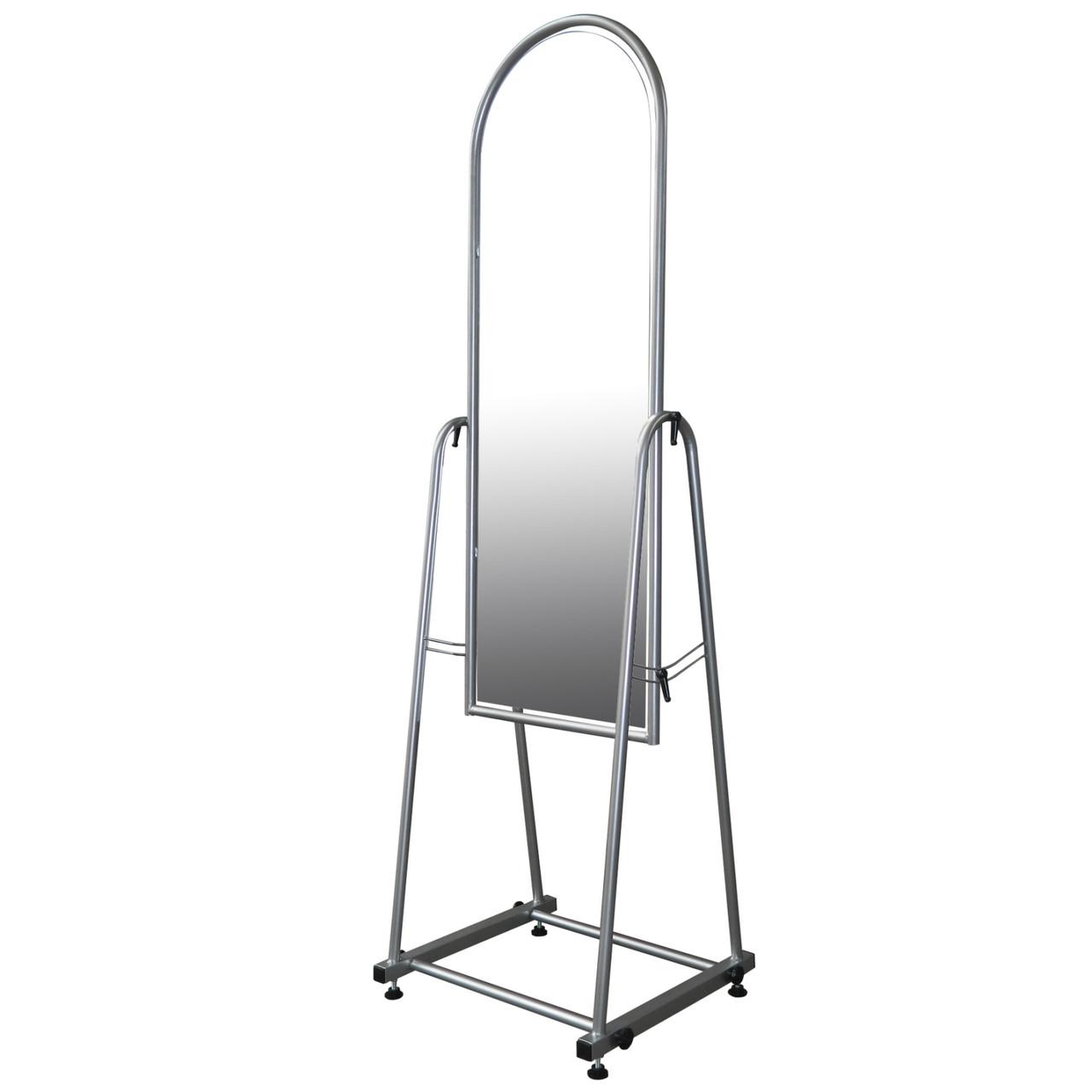 Торговое напольное зеркало для одежды серого цвета