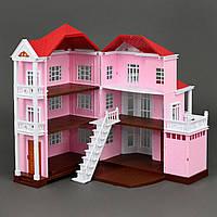 """Трехєтажный кукольный домик Вилла """"Счастливая семья"""" 1513, 3 этажа, без мебели и кукол"""