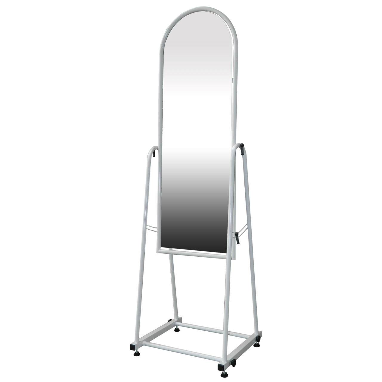 Торговое напольное зеркало для одежды белого цвета