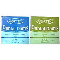 Платки для коффердама Vortex Dental Dams, 36 шт.