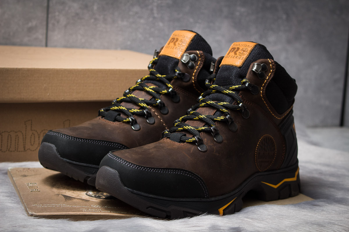 Зимние ботинки на мехуTimberland Pro Series, коричневые 30931
