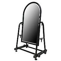 Торговое напольное зеркало для обуви чёрного цвета, фото 1