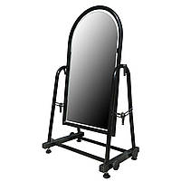 Торговое напольное зеркало для обуви чёрного цвета