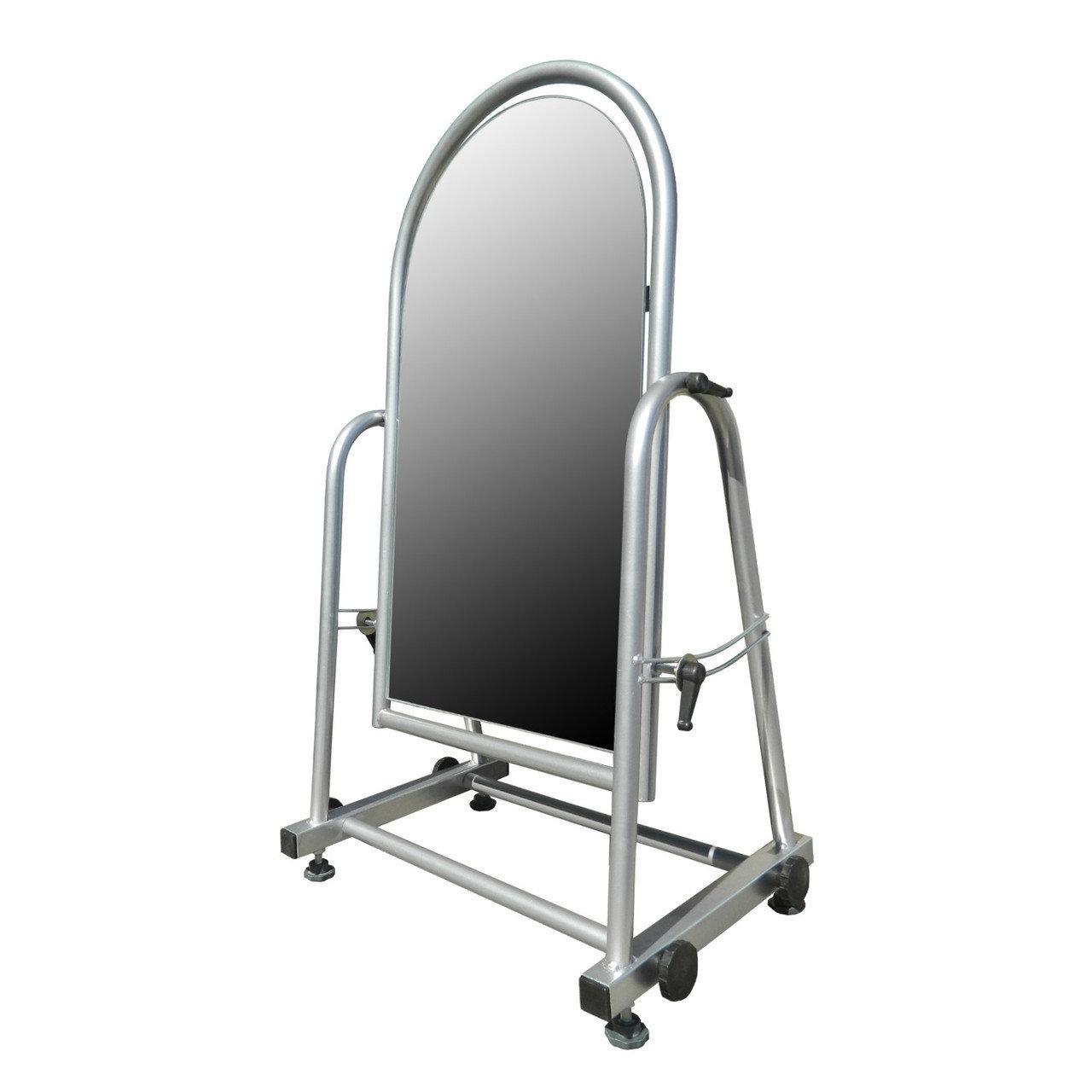 Торговое напольное зеркало для обуви серого цвета