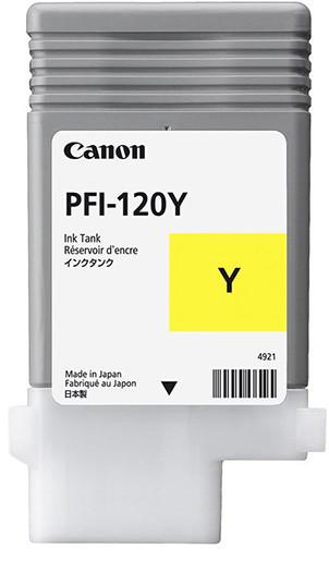 Картридж Canon PFI-120Y для TM-200/300, Yellow, 90 мл