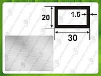 Алюминиевая прямоугольная труба 30*20*1,5, Без покрытия