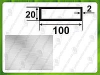 Алюминиевая прямоугольная труба 100*20*2, Без покрытия