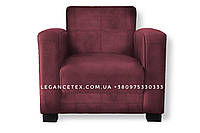 Кожзам для мебель бордовый
