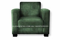 Кожзам для мебель зелёный