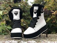 Ботинки на платформе женские зимние Uk0539
