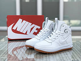 Кросівки чоловічі в стилі Nike Lunar Force 1 білі  ТОП якість