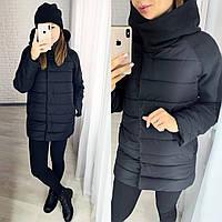 Женская зимняя куртка норма и батал, фото 1