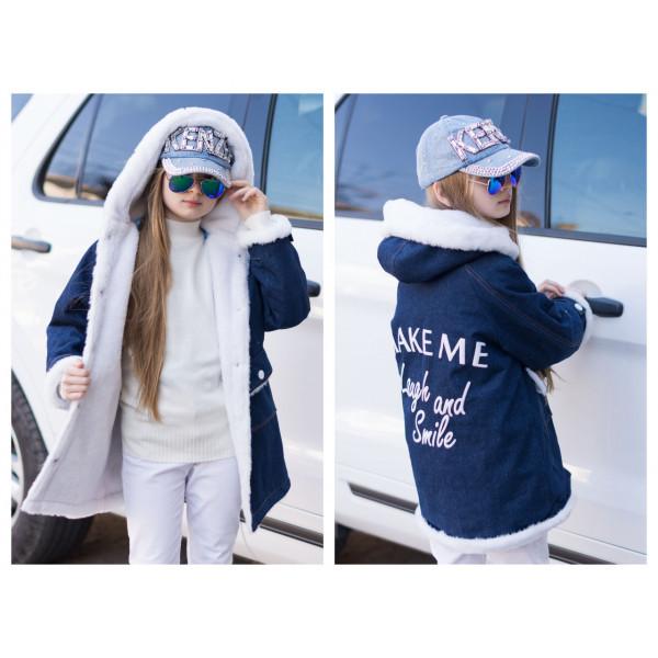 """Супер стильна куртка парку на хутрі для дівчинки підлітка """"Модняшка"""""""