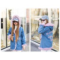 """Супер стильная куртка парка на меху для девочки подростка """"Модняшка"""""""