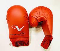 Перчатки (накладки) для каратэ WKF ARW, размер S,  L, XL  красные, фото 1