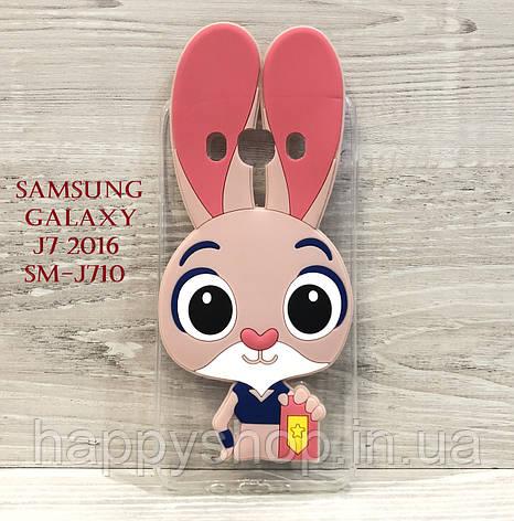 Чехол Зверополис для Samsung Galaxy J7 2016 (SM-J710), фото 2