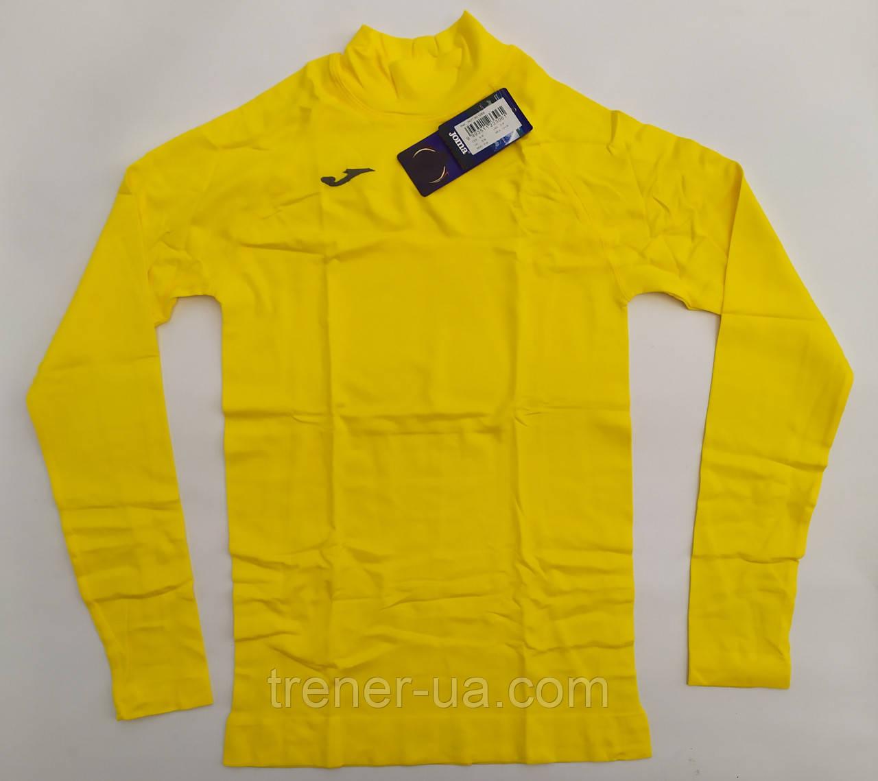 Термобелье взрослое длинный рукав Brama в стиле Joma желтое