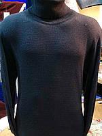 Гольф (водолазка) мужской, шерсть, темно-синий